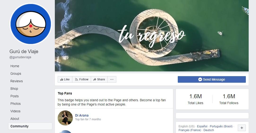 facebook gurú de viaje
