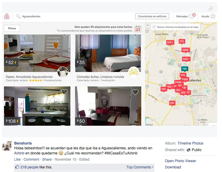 Campaign Airbnb VoxFeed