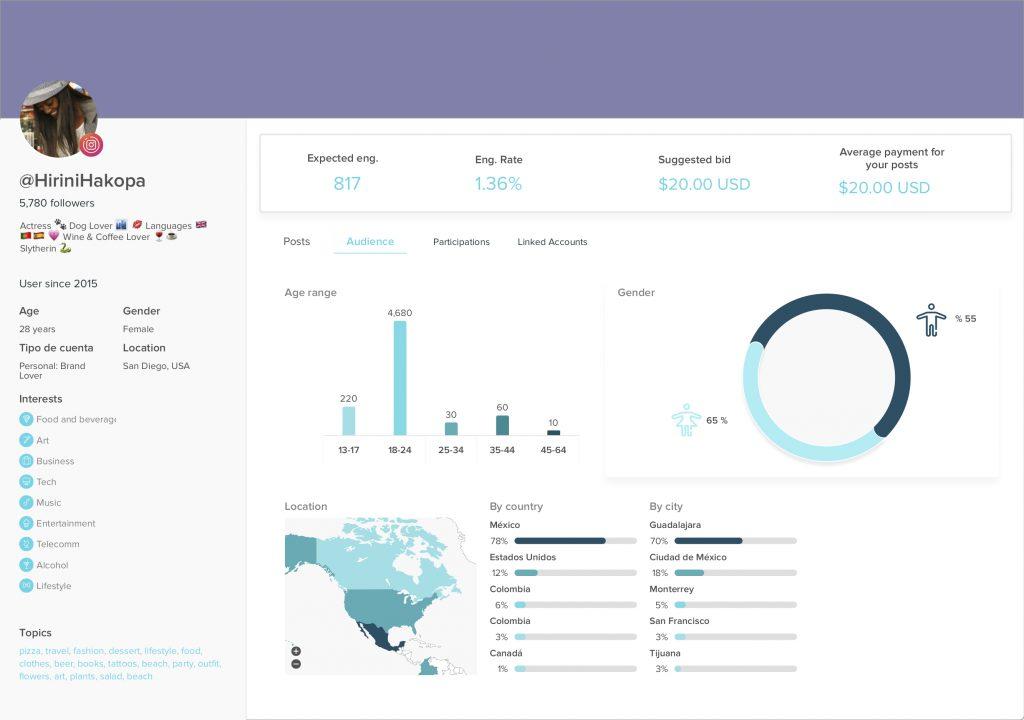 influencer profile analysis