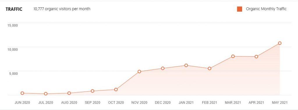 Organic Web Traffic Growth